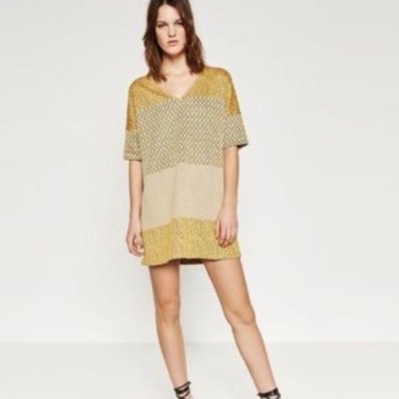 87e58790 Zara Dresses | Wb Collection Jacquard Short Sleeve Dress | Poshmark